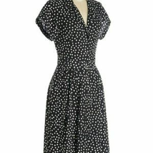ModCloth Waltz on a Whim Polka Dot Shirt Dress